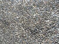 Free pea gravel and/or white marble stones