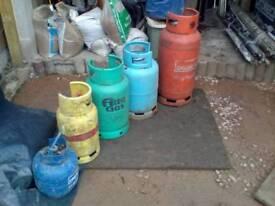 Gas bottles/log burner etc