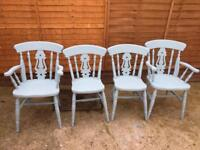 4 x farmhouse kitchen chairs