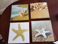 Canvas Pictures, set of 4