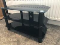 Free!! Black Glass TV stand (Pick Up Today Only!)