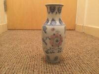CHINESE VASE WITH FLOWERS AND HEART
