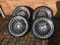 """BMW vermillion executive 19"""" alloy wheels 5x120 1 3 5 alloys"""