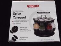 8 Jar Rotating Spice Carousel New/Boxed.