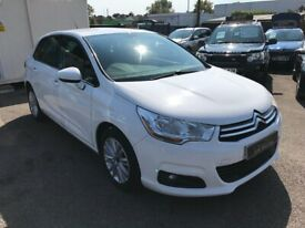 2011/11 CITROEN C4 1.6 HDI VTR+, WHITE, GREAT ECONOMY,STUNNING LOOKS+DRIVES REALLY WELL