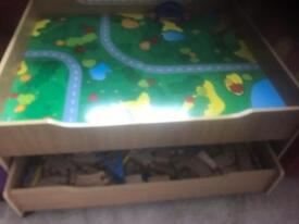 Reversible train table and track
