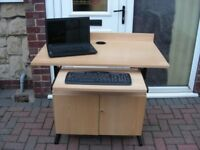 STANDING LAPTOP LECTERN CLASSROOM COMPUTER STUDY DESK WITH STORAGE CUPBOARD