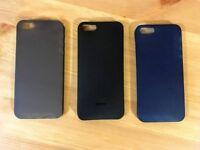 iPhone 5/5s/SE Ultra Thin Cases - Grey/Blue + Black Free
