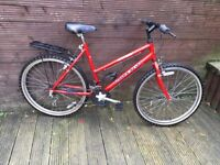ADULT RALEIGH MAX LADIES BIKE WITH CYCLE RACK AND STAND