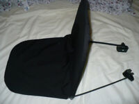 Mothercare Black Baby Pram/ Carrycot Canopy/ Sun Shade in very good condition.