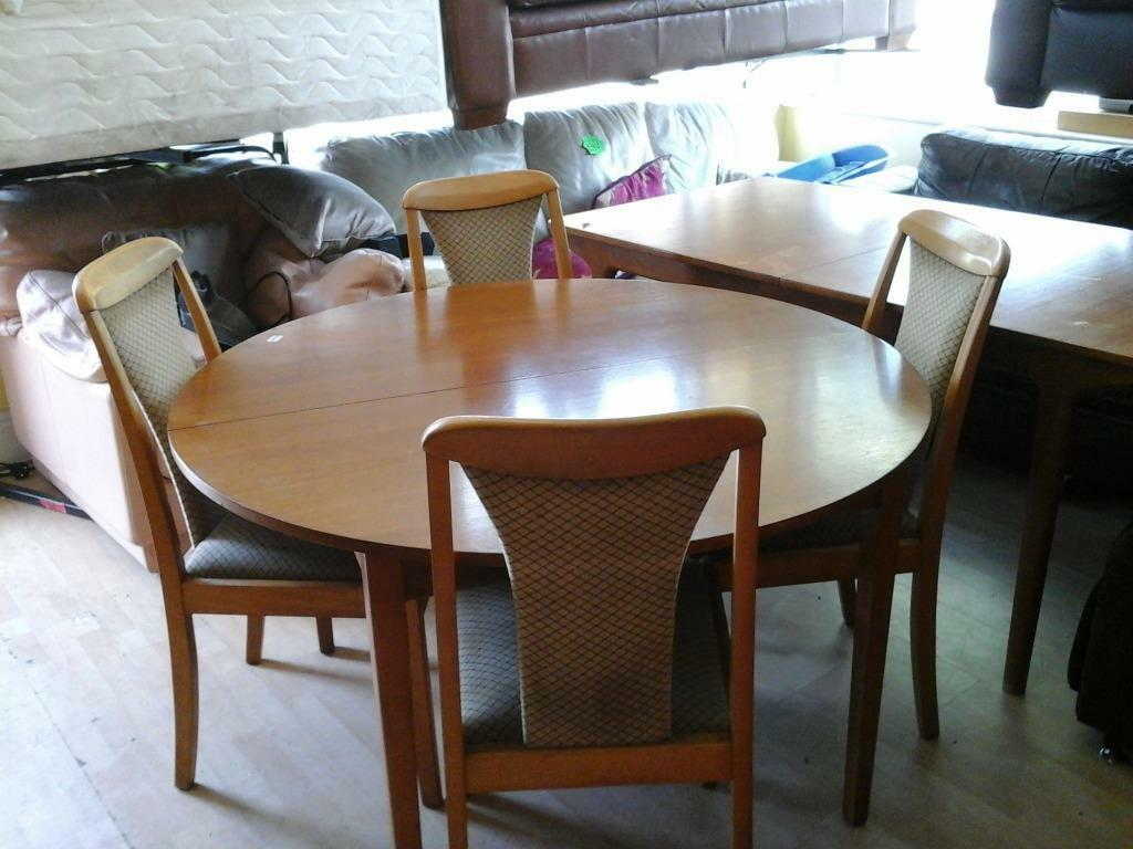 ROUND EXTENDABLE TABLE AND 4 CHAIRS In Hull East Yorkshire Gumtree
