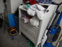 changing table for baby with draws