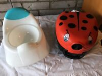 Portable potty with handle beautiful ladybug design freebies included Ikea potty & seat adaptor