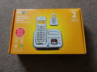 BT Home phone and answering machine (2 handsets)
