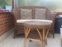 Rattan Sofa and table in very good condition