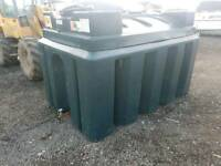 Atlas 2500 litre bunded oil tank or diesel storage tank farm tractor