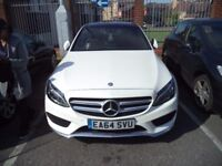 BARGAIN -Mercedes-Benz C Class C220 BlueTEC AMG Line Premium 5dr White Auto - £20,500