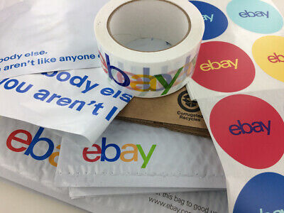 68 Ebay Shipping Supplies Bubble Mailers Kit Box Envelopes Tape Tissues Stickers
