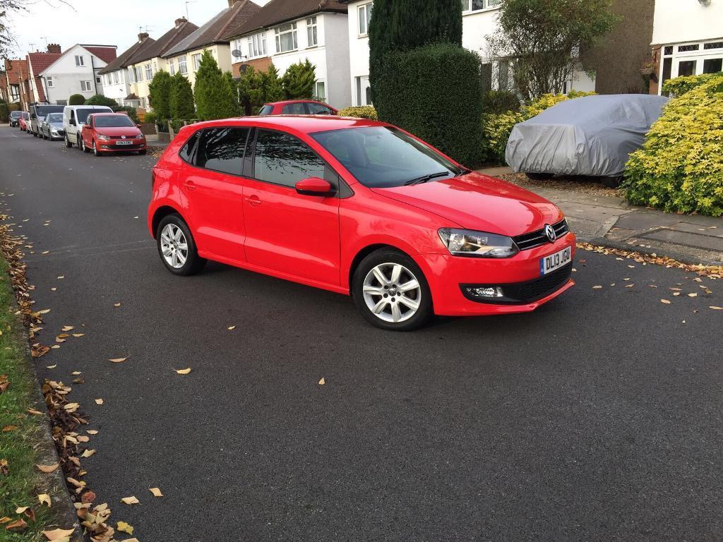2013 VW POLO RED MATCH 1.2 PETROL 1 YEAR MOT,CAT C LOW MILEAGE 11000 IMMACULATE CONDITION