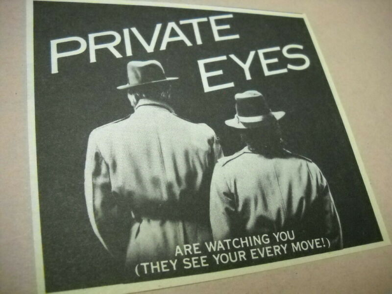 HALL & OATES are watching..and..seeing Original 1981 music biz promo trade advt