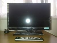 19 inch HDTV BARELY USED, PROTECTIVE SEAL STILL ON - DVD PLAYER, HDMI/USB PORT and FREEVIEW