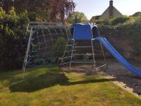 TP climbing frame,slide,monkey bars and scramble net