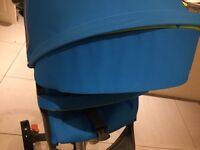 Stokke xplory v3 urban blue with extras