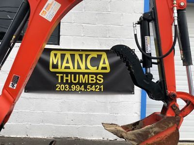 Manca Thumbs 8x21 Mini Excavator Hydraulic Thumb