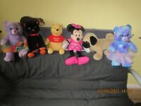 seven soft toys