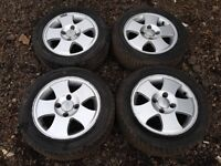 "Ford Fiesta / Ka 14"" zetec alloy wheels - good tyres"