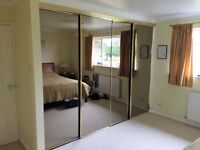 Sliding Wardrobe Smoked Glass Mirrored Doors for sale