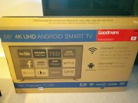 "BRAND NEW Goodmans 58"" Android 4K UHD TV."