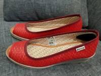 2 pair new slip on sandals