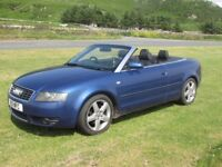 Audi A4 Convertible - fantastic condition, 2.5 diesel