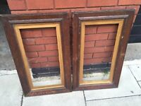 Pair of antique solid wood picture frames excellent central London bargain