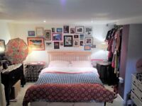 Large double room / studio , 5 x 3m, 16 x 10ft, no bills/fees, friendly house, fab location, Burley