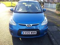 Hyundai I10 ES 5 Door Air Conditioning 2009 09 reg MOT until 18/1/2018 TAXED £30 Per Year