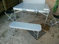 Folding camping picnic table