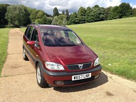 VAUXHALL ZAFIRA AUTOMATIC, LONG MOT, VERY GOOD DRIVE, LOW MILEAGE,IN AND OUT GOOD CONDITIO