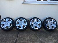 x4 brand new Schmidt modern line alloys brand new tyres VW Audi seat skoda. Not bbs or reps
