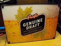 pacific genuine draft sign 10.00