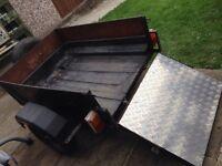 'builders workhorse' car trailer - drop down metal tailgate