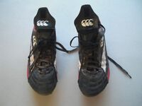 Size 9.5 canterbury mens rugby boots used but still lots of life left in them