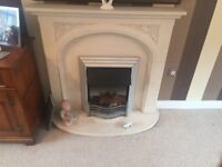 Fire surround & electric coal effect fire