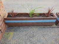 Garden Decking Planters. 6ft x 1.5ft x 2ft. Lined (8 Available)