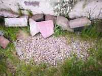 Free mixed stones/slabs ideal for rockery