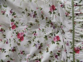 Pair of Laura Ashley Floral Pattern Curtains