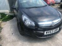 2014 63reg Vauxhall Corsa 1.3 CDTI Exclusive 5 Door Black Spares or repairs non runner