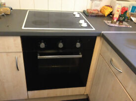 Built in oven and Ceramic Hob