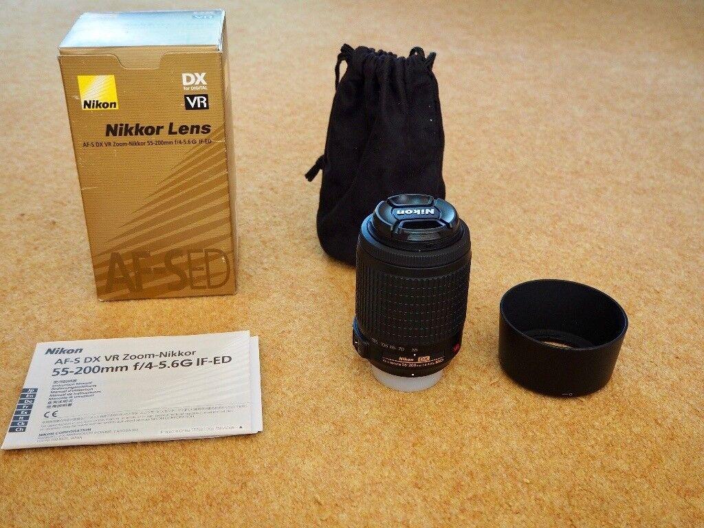 Nikon Nikkor 55-200mm VR Lens